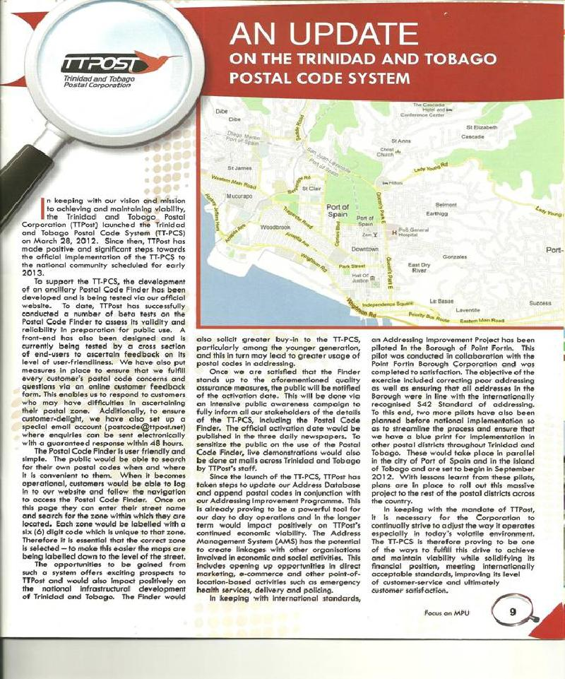 An Update On The Trinidad And Tobago Postal Code System